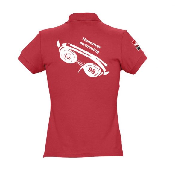 WASPO 98-Damen Poloshirt-rot