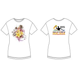 Damen T-shirt - DiapoloMania Malaga flowers HWPSC