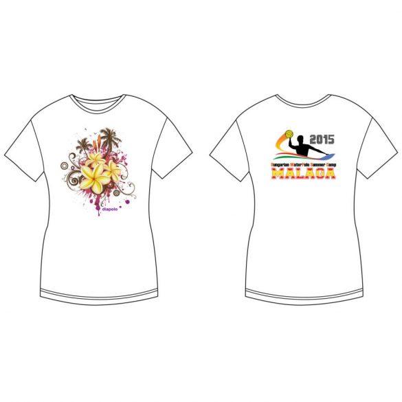 Damen T-shirt-DiapoloMania Malaga flowers HWPSC