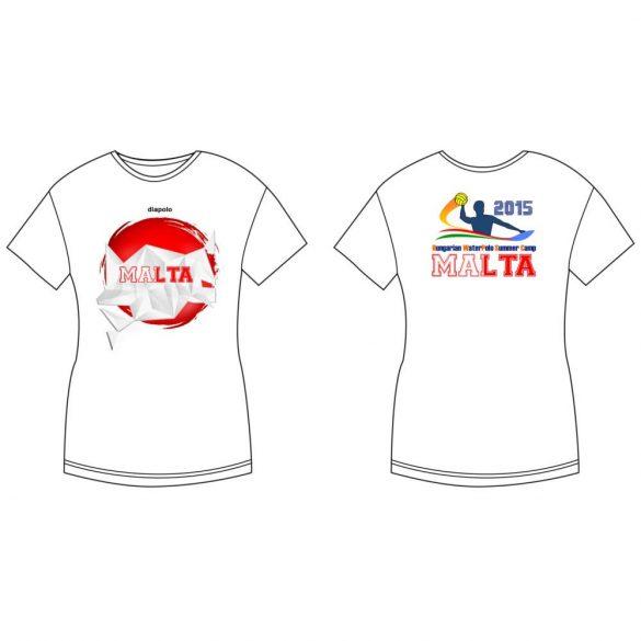 Damen T-shirt-DiapoloMania Malta crystal HWPSC