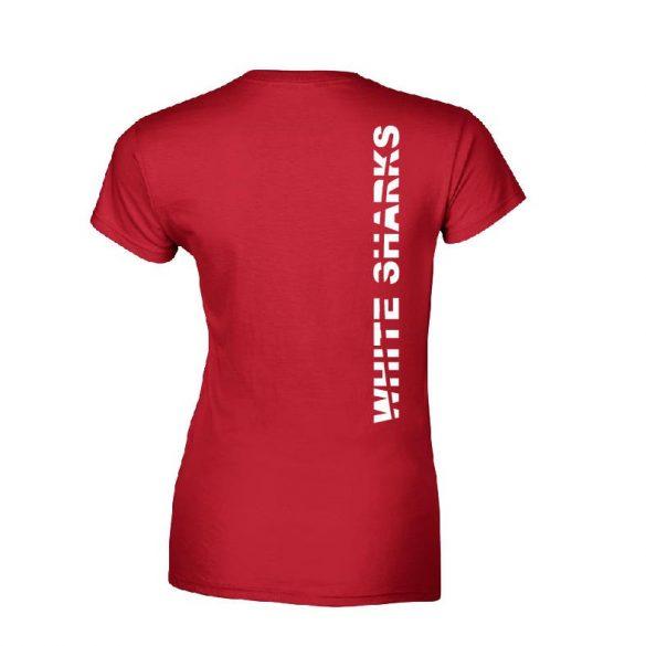 White Sharks-Damen T-shirt-rot