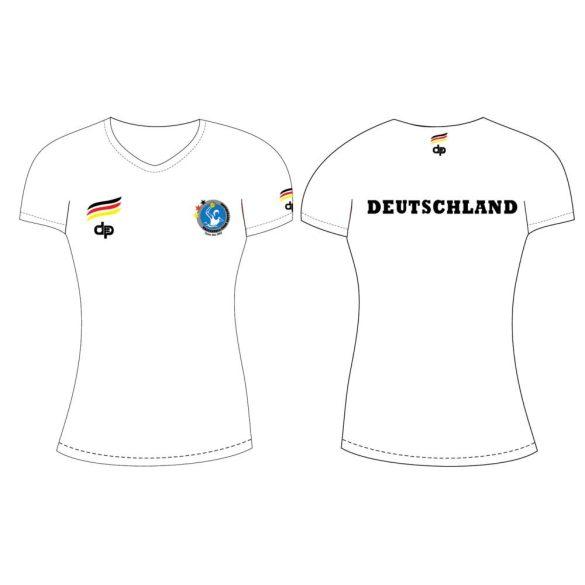 Deutsche Damen Wasserball Nationalmannschaft-Damen T-shirt-weiss