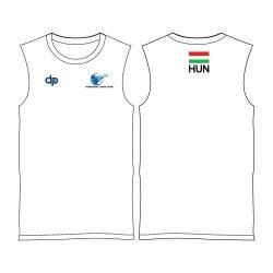 Unterhemd-Ungarische Herren Auswahl-weiss