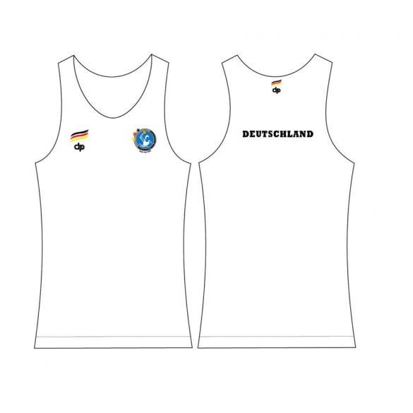 Deutsche Herren Wasserball Nationalmannschaft-Damen Unterhemd-weiss