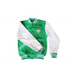 Kansas baseball kabát-grün/weiss