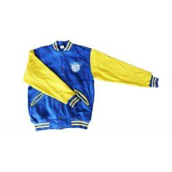 Kansas baseballjacke - royalblau-gelb