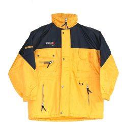 Skijacke-gelb/blau
