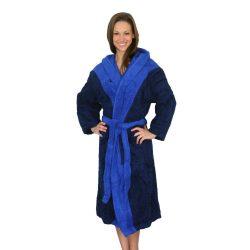 Bademantel-navy blau/königsblau