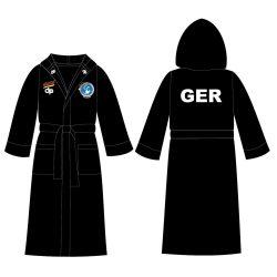 Deutsche Damen Wasserball Nationalmannschaft - Damen Bademantel schwarz