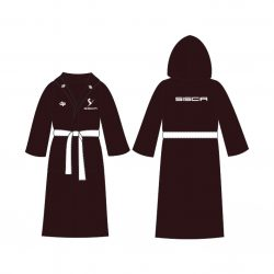 Vatenpolo Club Siscia - Bathrobe terry with Hoodie black