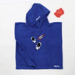 Poncho-Hund-königsblau