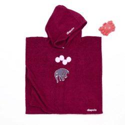 Poncho-Elefant-rotwein