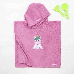 Poncho-Einhorn-pink