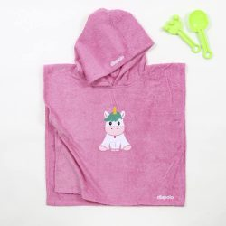 Poncho - rosa Einhorn