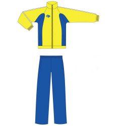 Trainingsanzug - gelb-royalblau mikrofaser