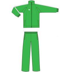 Trainingsanzug - grün mikrofaser