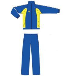 Trainingsanzug - blau-gelb mikrofaser