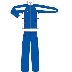 Trainingsanzug - blau-weiss mikrofaser