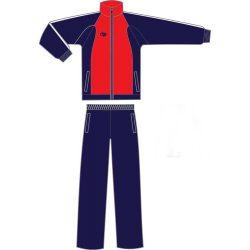 Trainingsanzug-mikrofaser-navy blau/rot