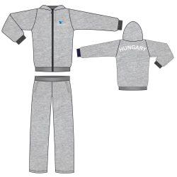 Trainingsanzug - Baumwolle grau