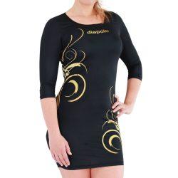 Damen Kleid-Floral Gold 2
