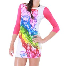 Damen Kleid-Rainbow Sinus