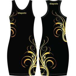 Damen Kleid-Floral Gold 1