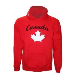 Pullover-Canada gestickten-rot