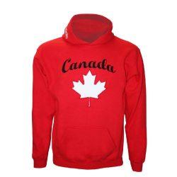 Pullover - Canada gestickten rot