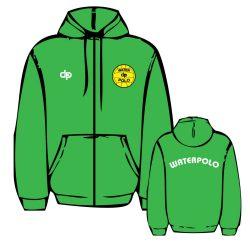 Pullover-WP1 gestickten mit Reissverschluss-grün