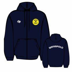 Pullover-WP1 gestickten mit Reissverschluss-navy blau
