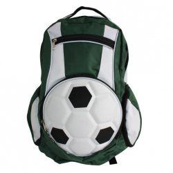 Fussball Rucksack-Grün/Weiß