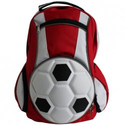 Fussball Rucksack-Rot/ Weiß