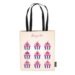 Einkaufstasche-Cupcakes
