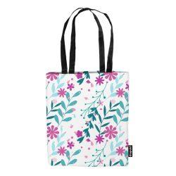 Einkaufstasche-Floral-weiss