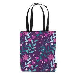 Einkaufstasche-Floral Purple