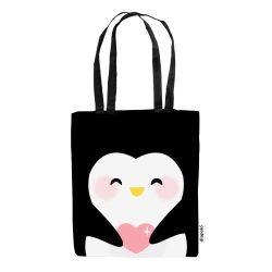 Einkaufstasche-Penguin-schwarz