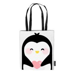 Einkaufstasche-Penguin-weiss