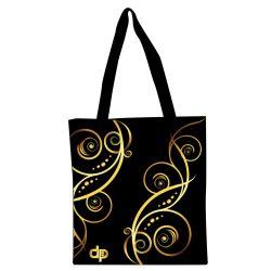 Floral Gold 1 Shopping Bag