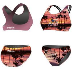 Bikini-HWPSC Florida palms mit breiten Trägern