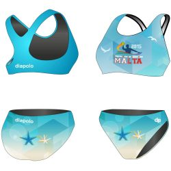 Bikini - HWPSC Malta sea star mit breiten Trägern