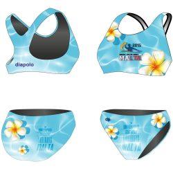 Bikini - HWPSC Malta Flowers mit breiten Trägern