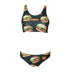 Bikini - Burger mit breiten Trägern