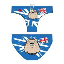 Jungen Schwimmhose-Bulldog 1 blau