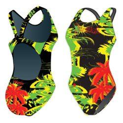 Mädchen Schwimmanzug - Jamaica mit breiten Trägern