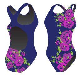 Mädchen Schwimmanzug - Flower mit breiten Trägern