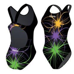 Mädchen Schwimmanzug-Neonflower 12 mit breiten Trägern