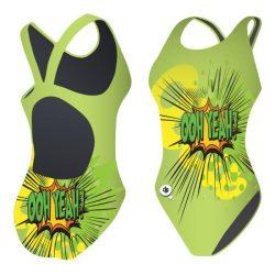Mädchen Schwimmanzug-Ooh yeah mit breiten Trägern