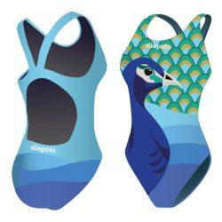 Mädchen Schwimmanzug-Peacock mit breiten Trägern