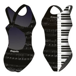Mädchen Schwimmanzug-Piano mit breiten Trägern